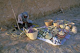basketry stock photography | Tunisia, Street vendor with baskets, image id 3-1100-58