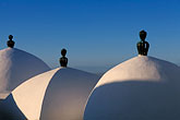 sky stock photography | Tunisia, Sidi Bou Said, Domed roofs, image id 3-1100-59