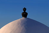 white wash stock photography | Tunisia, Sidi Bou Said, Domed roof, image id 3-1100-60