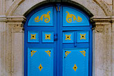 painted doorway stock photography | Tunisia, Sidi Bou Said, Door, image id 3-1100-61