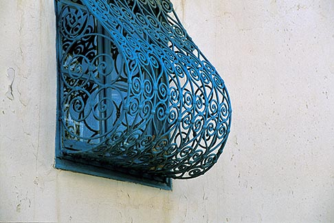 image 3-1100-62 Tunisia, Sidi Bou Said, Blue window grille