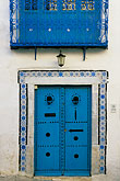 wrought iron balcony stock photography | Tunisia, Sidi Bou Said, Door, image id 3-1100-63