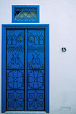 decorated door stock photography | Tunisia, Sidi Bou Said, Door, image id 3-1100-64