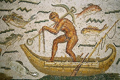 image 3-1100-8 Tunisia, Tunis, Bardo Museum, Roman mosaic
