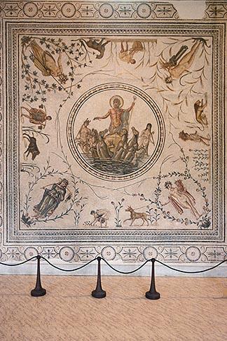 image 3-1100-86 Tunisia, Tunis, Bardo Museum, Mosaic