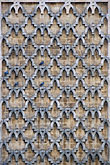 pattern stock photography | Tunisia, Tunis, Decorated facade with bluebirds, image id 3-1100-88
