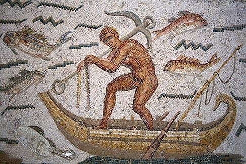 image 3-1100-91 Tunisia, Tunis, Bardo Museum, Roman mosaic