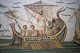 nautical stock photography | Tunisia, Tunis, Bardo Museum, Roman mosaic, image id 3-1100-92
