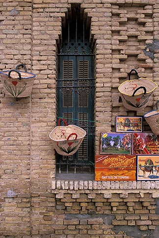 image 3-1100-98 Tunisia, Tozeur, Baskets for sale