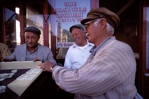 image 9-310-88 Turkey, Selcuk, Men playing dominoes