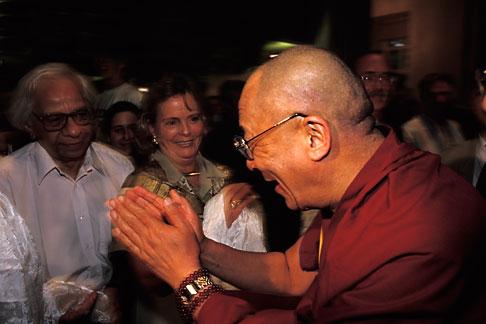 image 9-340-57 Israel, Jerusalem, Dalai Lama greeting guests