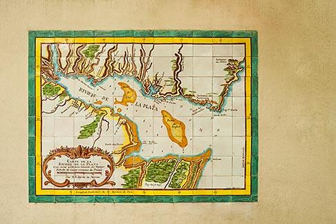 image 8-802-4387 Uruguay, Colonia del Sacramento, Historical map of Rio de la Plata