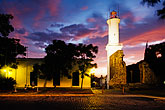 heritage stock photography | Uruguay, Colonia del Sacramento, Colorful sunset and Colonia lighthouse, image id 8-802-4469