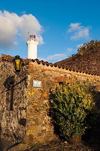 image 8-802-4568 Uruguay, Colonia del Sacramento, Stone buildings and Colonia lighthouse