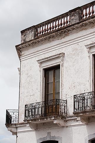image 8-803-4658 Uruguay, Colonia del Sacramento, Ornate balcony, Historic District