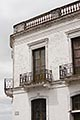 vertical stock photography | Uruguay, Colonia del Sacramento, Ornate balcony, Historic District, image id 8-803-4661