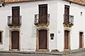 heritage stock photography | Uruguay, Colonia del Sacramento, Balconies, street corner, Historic District, image id 8-803-4680