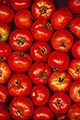 hispanic stock photography | Uruguay, Colonia del Sacramento, Tomatoes in market stall, image id 8-803-4711