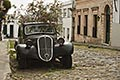 old fashion stock photography | Uruguay, Colonia del Sacramento, Abandoned antique automobile on cobbled street, image id 8-803-4799