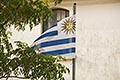 history stock photography | Uruguay, Colonia del Sacramento, Flag of Uruguay, image id 8-803-4942