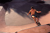 one teenage boy only stock photography | Recreation, Skateboarder in quarter-pipe, image id 6-220-5