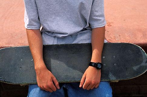 image 6-229-25 Recreation, Skateboarder hands