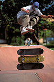 play stock photography | Recreation, Skateboarder jumping, image id 6-239-13