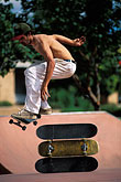 play stock photography | Recreation, Skateboarder jumping, image id 6-239-14