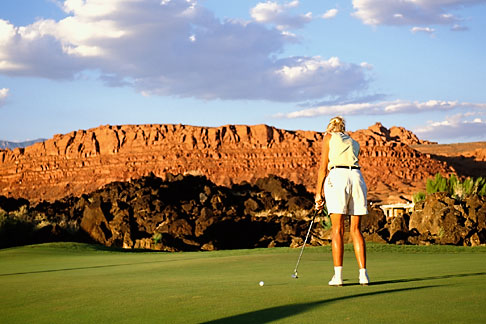 image 3-861-14 Utah, St George, Entrada at Snow Canyon Golf Course, 17th hole