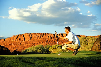 3-861-61  stock photo of Utah, St George, Entrada at Snow Canyon Golf Course
