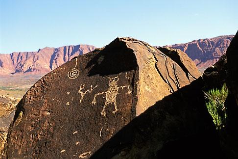 image 3-863-64 Utah, St George, Anasazi Canyon petroglyphs
