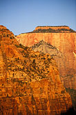 elevation stock photography | Utah, Zion National Park, West Temple from Canyon Overlook, image id 3-870-1