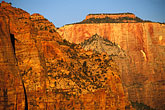 scenic stock photography | Utah, Zion National Park, West Temple from Canyon Overlook, image id 3-870-4