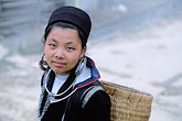 portrait stock photography | Vietnam, Sapa, HIll Tribe Vendor, image id S3-194-34