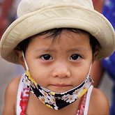 head covering stock photography | Vietnam, Hoi An, Young girl, image id S3-194-35