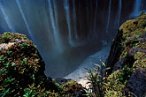 flora stock photography | Zimbabwe, Victoria Falls, Rainbow Falls and river bottom, image id 7-396-8