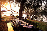 outdoor dining stock photography | Zimbabwe, Zambezi National Park, Matetsi Water Lodge, East Camp, image id 7-398-21
