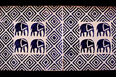 blue stock photography | African Art, Elephant pattern tiles, image id 7-403-6