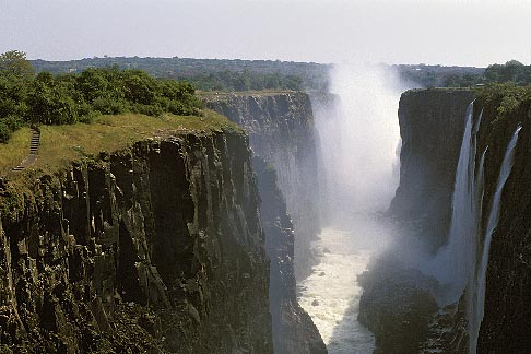 image 7-409-15 Zambia, Victoria Falls, Victoria Falls from the east