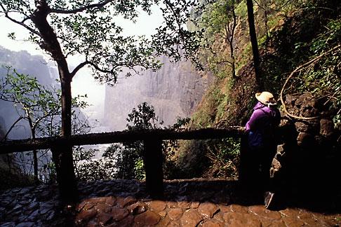image 7-412-5 Zimbabwe, Victoria Falls, Canyon overlook