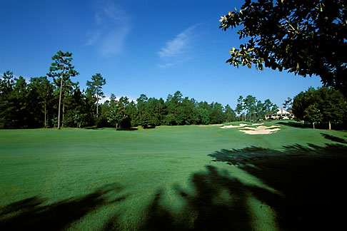 image 2-545-10 Alabama, Robert Trent Jones Golf Trail, Mobile, Magnolia Grove, 18th fairway, Falls