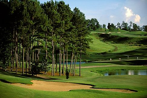 image 2-555-84 Alabama, Robert Trent Jones Golf Trail, Greenville, Cambrian Ridge, 8th hole, Sherling