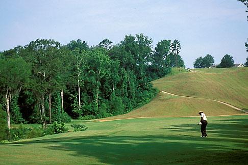 image 2-556-92 Alabama, Robert Trent Jones Golf Trail, Prattville, Capitol Hill, 1st fairway, Judge