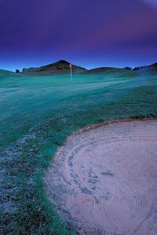 image 2-557-44 Alabama, Robert Trent Jones Golf Trail, Prattville, Capitol Hill, Senator course at sunset