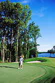 one man only stock photography | Alabama, RTJ Golf Trail, Prattville, Capitol Hill, 18th hole, Judge, image id 2-565-60