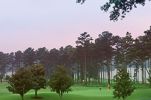 image 2-572-25 Alabama, Robert Trent Jones Golf Trail, Opelika, Grand National, 9th hole, Lakes