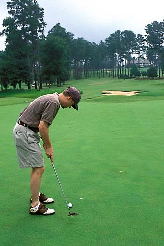 image 2-572-6 Alabama, Robert Trent Jones Golf Trail, Opelika, Grand National, 8th green, Lakes