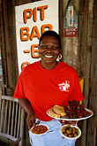 african american woman stock photography | Alabama, Greenville, Smokehouse restaurant, image id 2-573-15