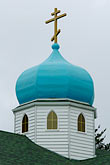 domed roofs stock photography | Alaska, Kodiak, Holy Resurrection Russian Orthodox Church, image id 5-650-1017