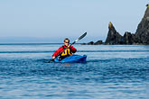red rock stock photography | Alaska, Kodiak, Kayaking in Monashka Bay, image id 5-650-1234